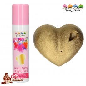 Barwnik Spray Metaliczny Złoty Jasny 100 ml FunCakes