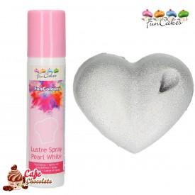 Barwnik Spray Metaliczny Perłowy Biały 100 ml FunCakes