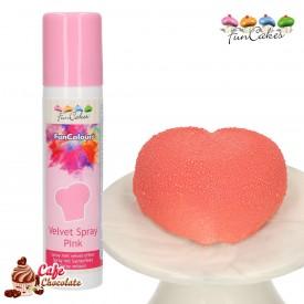 Barwnik Spray Zamsz Różowy 100 ml FunCakes