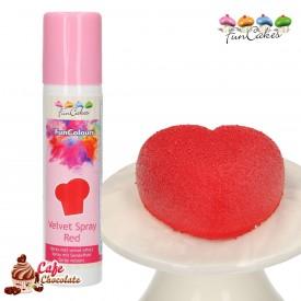 Barwnik Spray Zamsz Czerwony 100 ml FunCakes