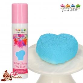 Barwnik Spray Zamsz Błękitny 100 ml FunCakes