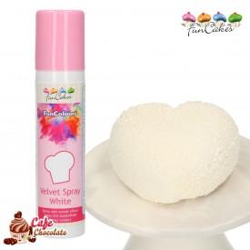 Barwnik Spray Zamsz Biały 100 ml FunCakes