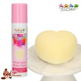 Barwnik Spray Zamsz Biały Kremowy 100 ml FunCakes
