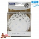 Papilotki Foliowane Białe Srebrne Kropki PME 50 mm