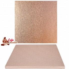 Gruba Tacka Różowe Złoto Kwadrat 30 cm
