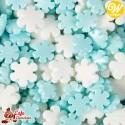 Konfetti Mix Śnieżynki Biało Niebieskie 113g Wilton
