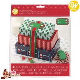 Pudełka Na Ciasteczka Prezent na Święta Wilton