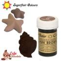 Sugarflair Barwnik CIEMNY BRĄZOWY - Dark Brown 25g
