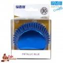 Papilotki Foliowane Niebieskie PME 50 mm