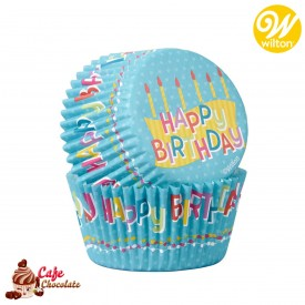 Papilotki Urodzinowe Happy Birthday Wilton 50 szt
