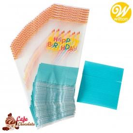 Torebki foliowe Kolorowe Urodziny Happy Birthday Wilton