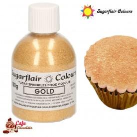 Cukier Dekoracyjny Złoty Sugarflair