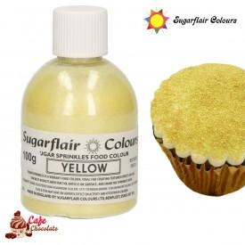 Cukier Dekoracyjny Żółty Sugarflair