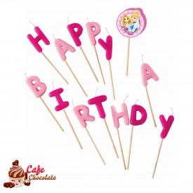 Świeczki Pikery - Happy Birthday Princess Glamour
