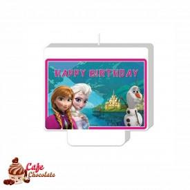 Świeczka Piker Frozen Happy Birthday