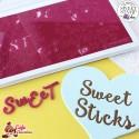 Stempelki Alfabet Styl Sweet Sticks LITERY DUŻE