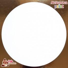 Gruby Podkład Biały Okrągły 25 cm