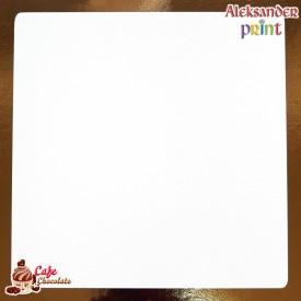 Gruby Podkład Biały Kwadratowy 25x25 cm