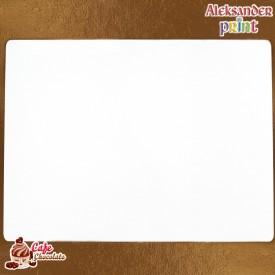 Gruby Podkład Biały Prostokąt 35x38 cm