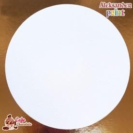 Cienki Podkład Biały Okrągły 18 cm 5 szt