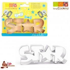 Wycinarka Napis STAR 13 cm Scrapcooking
