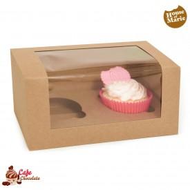 Pudełka na 2 muffiny z okienkiem EKO PAPIER HoM 3 szt