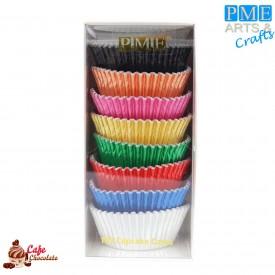 Papilotki Foliowane Mix Kolorowe 100 szt PME 50 mm