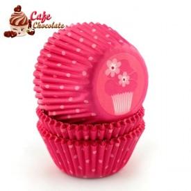 Papilotki Mini Różowa Babeczka Wilton 32 mm