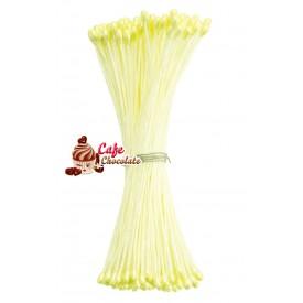 Pręciki Florystyczne Perłowe Żółte