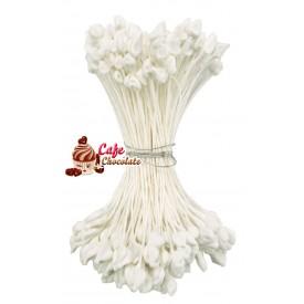 Pręciki Florystyczne Białe Matowe