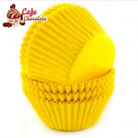 Papilotki Cupcake Żółte 50mm