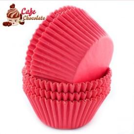 Papilotki Cupcake Różowe 50mm