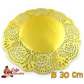 Serwetki Porcelanowe Złote 30 cm