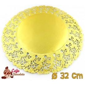 Serwetki Porcelanowe Złote 32 cm