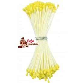 Pręciki Florystyczne Żółte Matowe