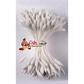 Pręciki Florystyczne Białe Matowe Długie