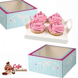 Pudełko na 4 muffiny z okienkiem