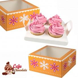 Pudełko na 4 muffiny z okienkiem II