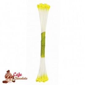 Pręciki Florystyczne Żółte Matowe 4 mm JEM