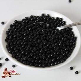Perełki Czarne nabłyszczane 4 mm