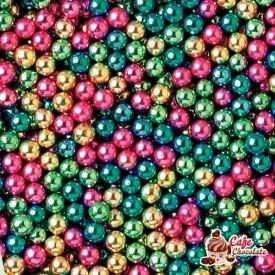 Perełki Mix Kolorów nabłyszczane 4 mm
