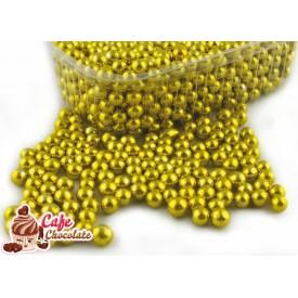 Perełki Złote nabłyszczane 5 mm
