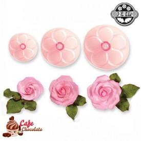 Wycinarka - Róża Zestaw 3 szt JEM