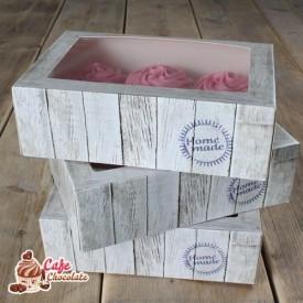 Pudełka na 6 muffinek okienko Deska