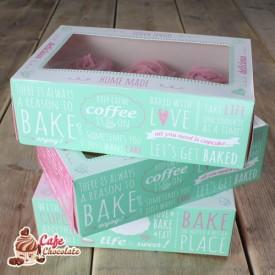 Pudełka na 6 muffinek okienko Cytaty