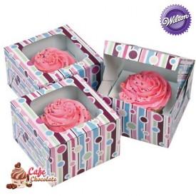 Pudełka na 1 muffinę z okienkiem Bańki Wilton