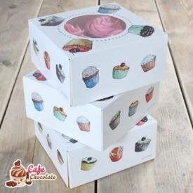 Pudełko na 4 muffiny z okienkiem I