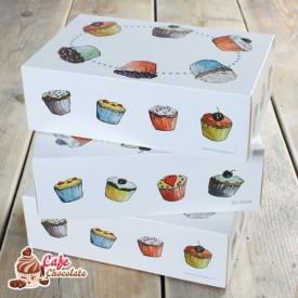 Pudełko na 6 muffinek bez okienka Babeczki