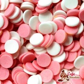 Konfetti Kółeczka Biało Różowe 7mm