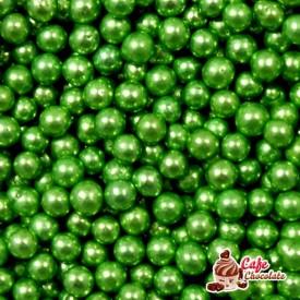 Perełki Zielone nabłyszczane 4 mm